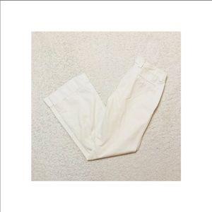 J Crew white pants 6 Long